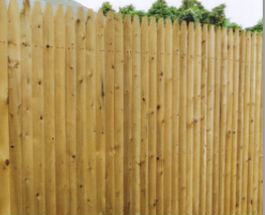 nail on stockade wood fence